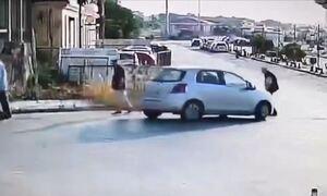 Αλεξανδρούπολη: Αυτοκίνητο παρέσυρε πεζό (video)
