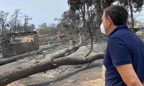 Τσίπρας από Εύβοια: Μην προκαλούν με δηλώσεις αυτοθαυμασμού πάνω στα ερείπια