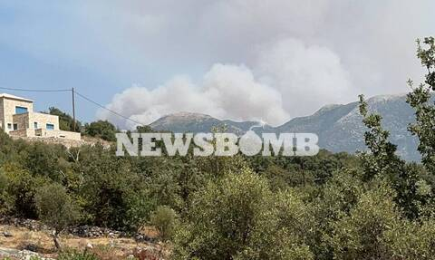 Φωτιά στη Μεσσηνία: Δραματικές στιγμές - Οι φλόγες πλησιάζουν το χωριό Καρνάσι