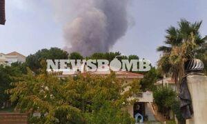 Φωτιά Βαρυμπόμπη: Στους βασιλικούς τάφους οι φλόγες - Απειλούνται Κρυονέρι, Δροσοπηγή, Ιπποκράτειος