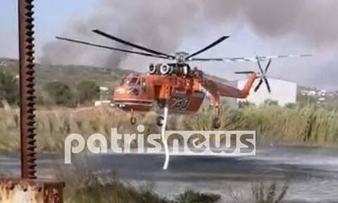 Ελικόπτερο φωτιά στην Ηλεία