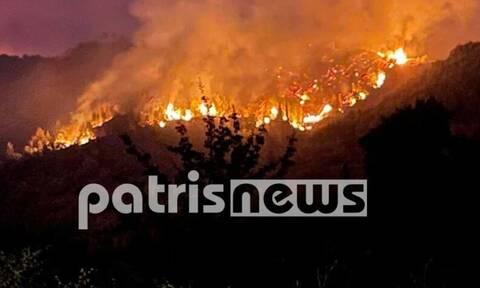 Φωτιά στην Ηλεία: Δεν έχει τέλος ο εφιάλτης - Σοβαρές αναζωπυρώσεις στα χωριά Μουριά και Κάμενα