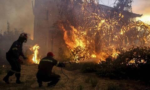 Φωτιά στην Εύβοια: Προς το Μαντούδι οι φλόγες - Εκκενώνονται χωριά