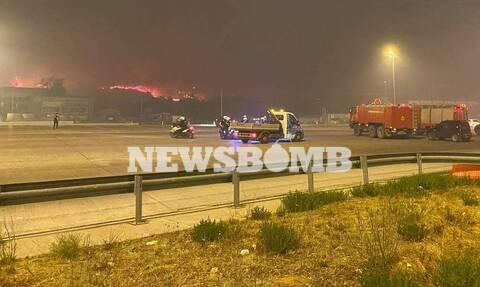 Φωτιά ΤΩΡΑ: Κλειστή και στα δύο ρεύματα η Αθηνών - Λαμίας - Ποιοι εξαιρούνται