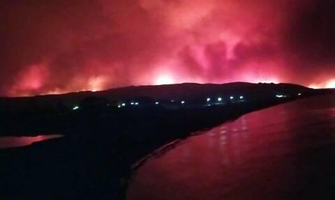 Φωτιά στην Εύβοια: Έχουν απεγκλωβιστεί συνολικά 210 άτομα - Εκκενώθηκε και η Στροφυλιά