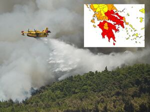 Συναγερμός: Πέφτει η θερμοκρασία, ενισχύονται οι άνεμοι - Στο «κόκκινο» η μισή Ελλάδα για πυρκαγιές