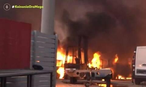 Φωτιά στην Αττική: Εκρήξεις σε εργοστάσιο στις Αφίδνες – Συγκλονιστικά βίντεο