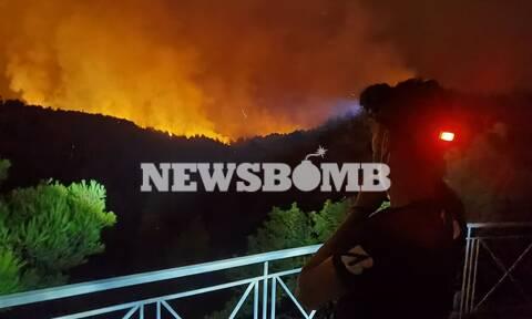 Φωτιές: Τριπλό μέτωπο στην Αττική – Η πύρινη λαίλαπα απειλεί Θρακομακεδόνες, Άγιο Στέφανο, Αφίδνες