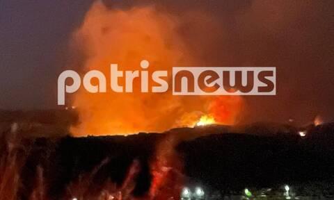 Φωτιά στην Ηλεία: Έχει πάρει τεράστιες διαστάσεις - Ένα από τα πύρινα πέρασε στην Αρκαδία