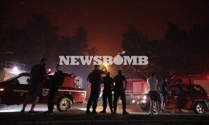 Φωτιά τώρα: Απελπισία στους Θρακομακεδόνες - Η πυρκαγιά έφτασε στα πρώτα σπίτια