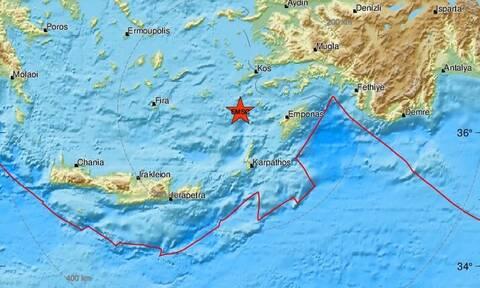 Σεισμός: Ισχυρή σεισμική δόνηση κοντά σε Νίσυρο και Τήλο