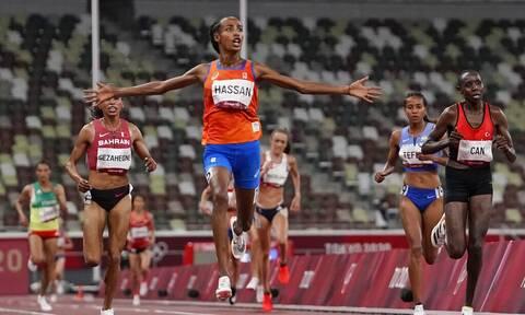 Ολυμπιακοί Αγώνες: Έκανε το... τρεμπλ στα μετάλλια η Χασάν! «Χρυσή» στα 10.000 μέτρα (video)
