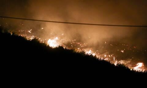Φωτιά στην Εύβοια: Εντολή για εκκένωση σε Ελληνικά, Γούβες, Γερακιού, Αγριοβότανο και Αγ. Νικόλαο