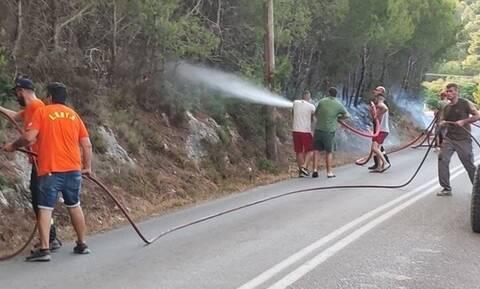 Ζάκυνθος: Σε ύφεση οι φωτιές στο νησί - Περιπολίες για την αποφυγή εμπρηστικών ενεργειών (vid)
