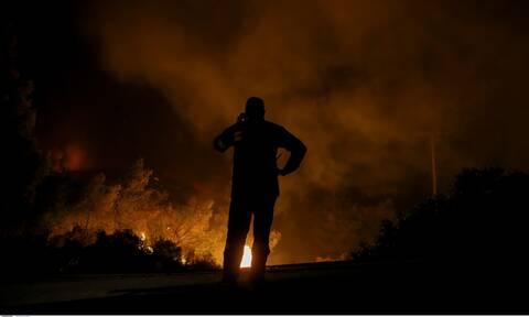 Φωτιά στη Μάνη: Σε δύσβατο σημείο στη Δεσφίνα οι φλόγες