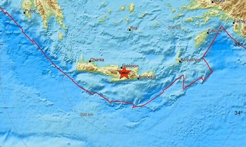 Σεισμός κοντά στο Ηράκλειο Κρήτης