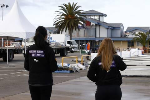 Διαγνωστικό κέντρο για τον κορονοϊό στη Μελβούρνη