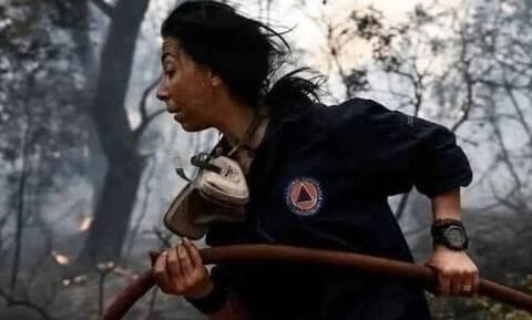 Φωτιά ΤΩΡΑ: Συγκινεί η εποχική πυροσβέστης Κατερίνα Ιωαννίδου - «Συγγνώμη για τον θάνατο του Βασίλη»