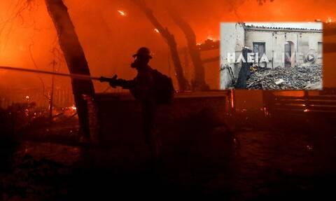 Φωτιά Γορτυνία: Μάχη στο πύρινο μέτωπο των 10 χιλιομέτρων - Στις φλόγες σπίτια στο Πυρρή
