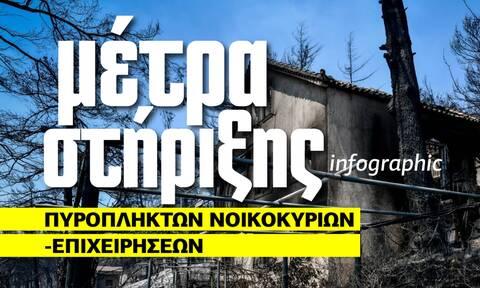 Τα μέτρα στήριξης πυρόπληκτων νοικοκυριών και επιχειρήσεων – Δείτε το Infographic του Newsbomb.gr