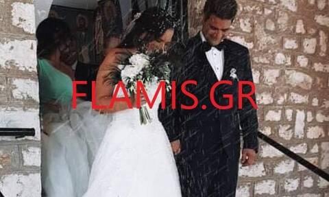 Επεισοδιακός γάμος στη Φωκίδα - Η νύφη εγκλωβίστηκε λόγω της φωτιάς