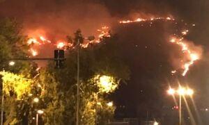 Φωτιά στο Πέραμα - Στο Σχιστό το μέτωπο της πυρκαγιάς