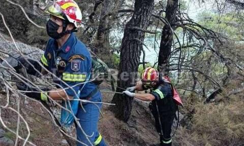 Φωτιές - Εύβοια: Δείτε πού αναρριχήθηκαν οι «κομάντος» πυροσβέστες