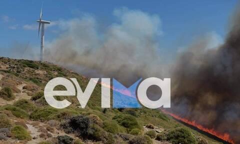 Φωτιά ΤΩΡΑ στην Εύβοια: Εντολή εκκένωσης στα Μεσοχώρια Καρύστου