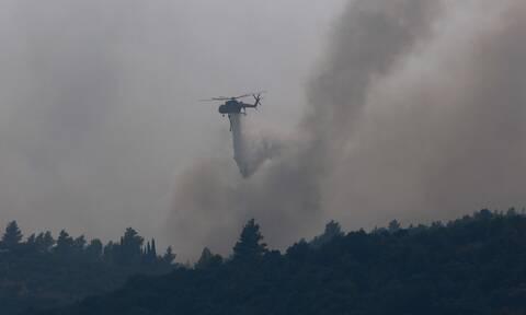 Φωτιές σε Εύβοια και Αρχαία Κόρινθο: Καλύτερη εικόνα στα πύρινα μέτωπα - Εκκενώθηκαν οικισμοί