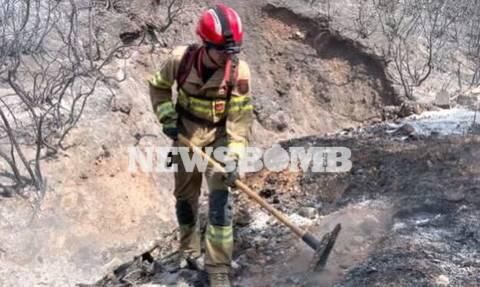 Φωτιές σε Εύβοια, Γορτυνία: Βίντεο Newsbomb.gr - Η μάχη των ξένων πυροσβεστών στο πλευρό των Ελλήνων