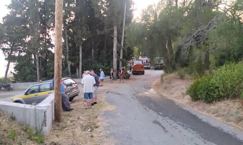 Φωτιά στην Κέρκυρα: Χωρίς ενεργό μέτωπο η πυρκαγιά στους Σιναράδες
