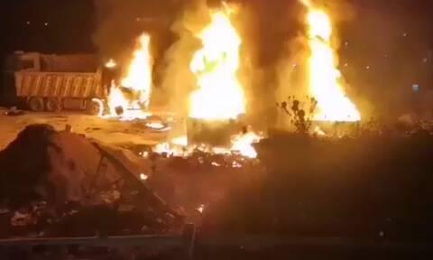 Τραγωδία στο Λίβανο: 20 νεκροί από έκρηξη βυτιοφόρου