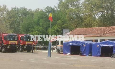 Φωτιές στην Εύβοια: Αποχώρησαν οι Ρουμάνοι πυροσβέστες από το Προκόπι