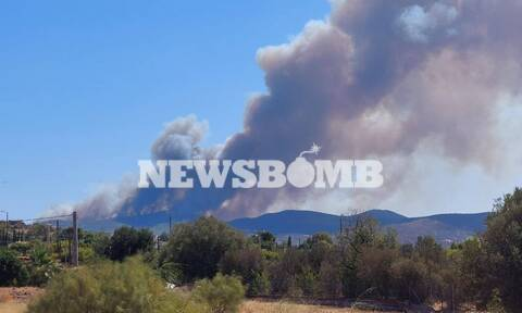 Φωτιά ΤΩΡΑ στη Λαυρεωτική - Στα πρώτα σπίτια οι φλόγες, εκκενώνεται ο οικισμός Μαρκάτι