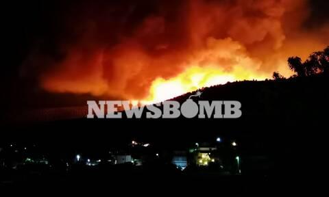 Live BLOG: Όλες οι εξελίξεις για τις πυρκαγιές σε Κερατέα και Βίλια - Η μάχη με τα πύρινα μέτωπα