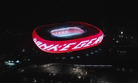 Μπάγερν Μονάχου: Οι Βαυαροι τίμησαν τον Γκερντ Μίλερ – Φωτίστηκε η Allianz Arena (vid)