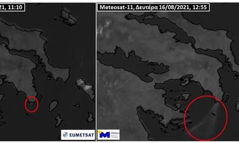 Φωτιά Κερατέα: Ορατός από το διάστημα ο καπνός της μεγάλης πυρκαγιάς