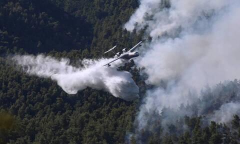 Пожар в районе Вилии не удается взять под контроль