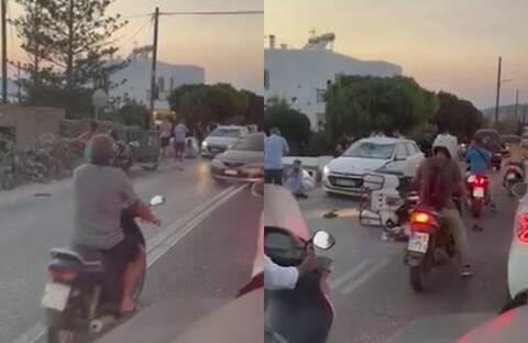 Τρομακτικό τροχαίο στη Μύκονο: Τουρίστριες... καρφώθηκαν σε παρμπρίζ αυτοκινήτου - Δείτε το βίντεο