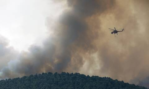 Φωτιά στα Βίλια - Copernicus: Το μέτωπο της πυρκαγιάς έχει μήκος 24,6 χλμ