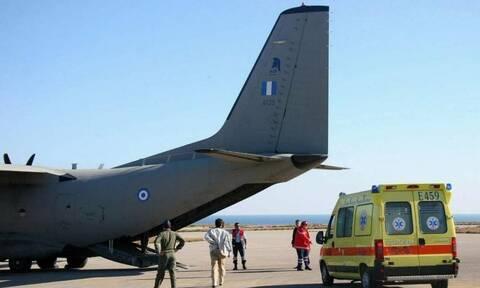 Χίος: Μεταφορά ενός βρέφους και ενός 12χρονου παιδιού με C-130 στην Αθήνα - Νοσηλεύονται με κορονοϊό