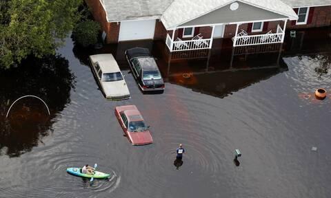 Πλημμύρες στη Βόρεια Καρολίνα: Εικόνες Αποκάλυψης - Δύο νεκροί και 20 αγνοούμενοι