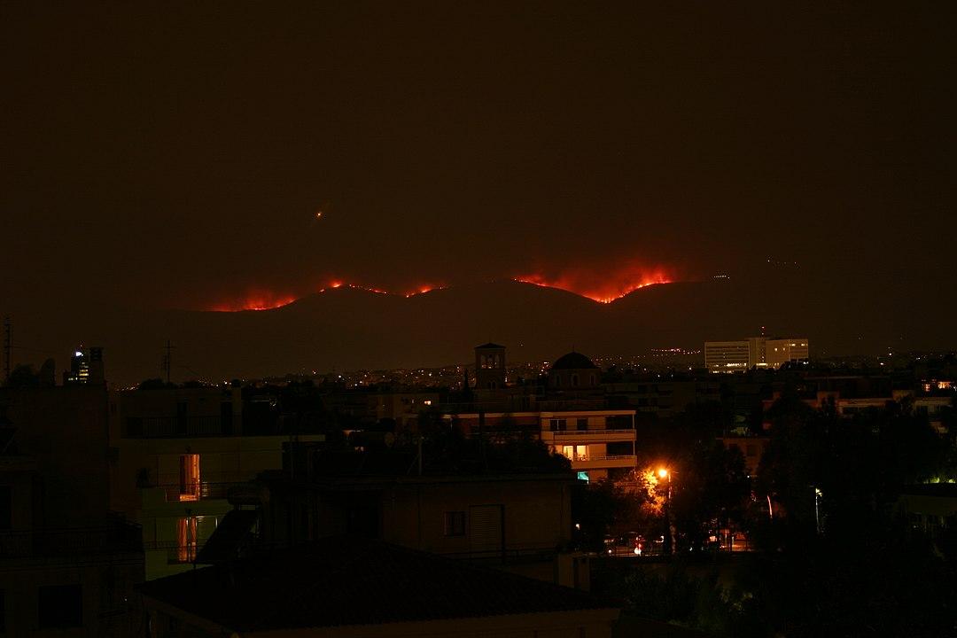 Η πυρκαγιά στον Εθνικό Δρυμό της Πάρνηθας