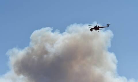 Φωτιά στην Κάρυστο: Εκκενώνεται και το Μαρμάρι – Δεν πετάνε τα αεροπλάνα λόγω των ανέμων