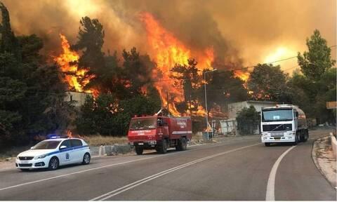 Из-за нового пожара эвакуируют жителей Вилиа и Профитис Илиас