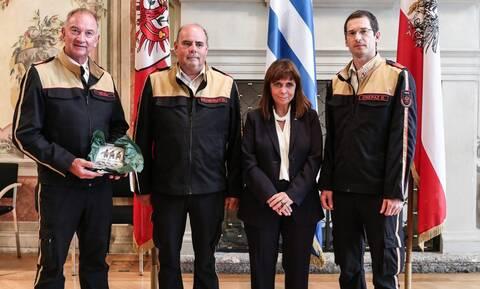 Ευχαριστίες από την ΠτΔ στους Αυστριακούς πυροσβέστες που βοήθησαν την Ελλάδα