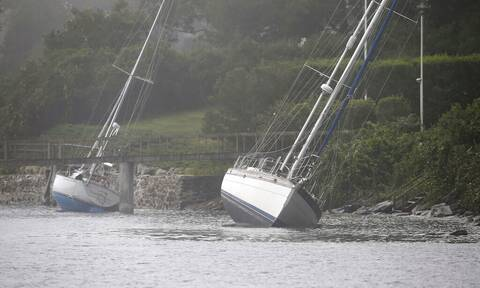 ΗΠΑ: Εικόνες καταστροφής από την τροπική καταιγίδα «Χένρι»