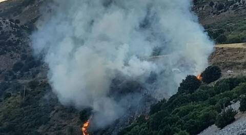 Φωτιά τώρα στο Λασίθι της Κρήτης.