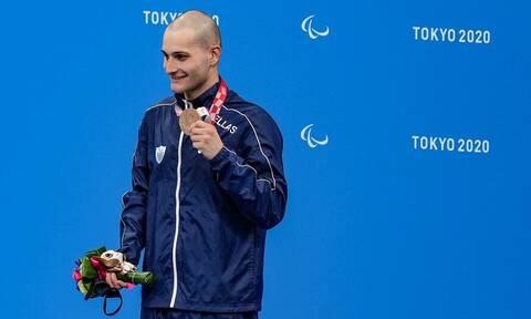 Παραολυμπιακοί Αγώνες 2021: «Χάλκινος» ο τρομερός Μιχαλεντζάκης στα 100 μέτρα ελεύθερης κολύμβησης
