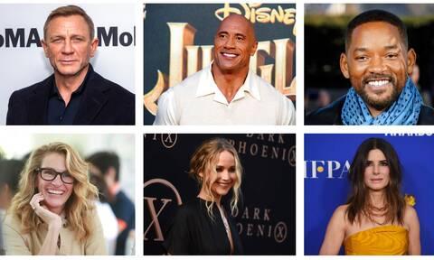 Αυτοί είναι οι 15 πιο ακριβοπληρωμένοι ηθοποιοί του Χόλιγουντ: Το Netflix έφερε τη μεγάλη ανατροπή